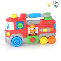 Խաղ մեքենա հրշեջի մուլտիկացված լեգո երաժշտական