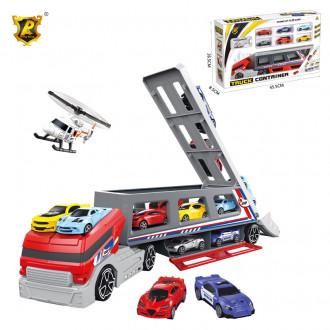 """Մեքենա """"Truck"""" մեծ, հավաքածու մեքենաներով"""