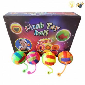 Խաղ յոյո ռետինե գնդակներ 12հ-ոց տուփով, լուսերով գույնզգույն