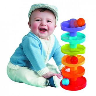 Խաղ` մանկական բուրգ գնդակներով