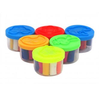 Պլաստիլին 6հ-ոց գույնզգույն փոքր տարրաներով
