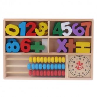 Փայտե թվեր + հաշվիչ ուսուցողական ժամով