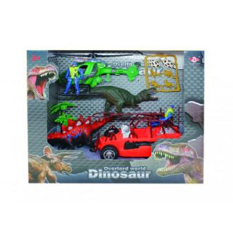 Խաղային հավաքածու ուղղաթիռով, դինոզավրերով և մեքնայով