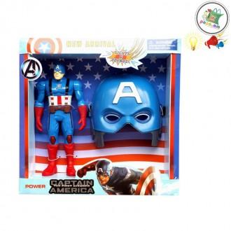 Ռետինե Captain America + դիմակ