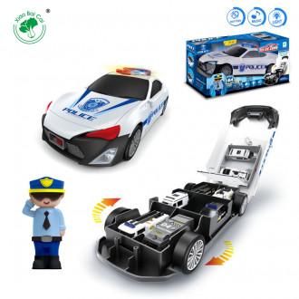 Մեքենա բաց տուփով երաժշտական+հավաքածու Police
