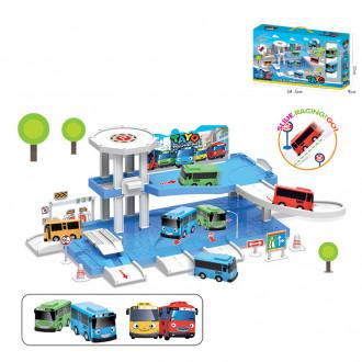 Խաղ ավտոտնակ TAYO մեքենաների հավաքածույով