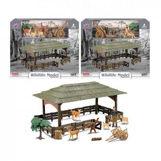 Խաղ հավաքածու 2ձև անասնաֆերմա կենդանիներով, վայրի բնությnւն