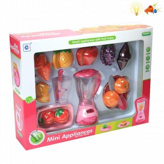 Խաղալիք հավաքածու կտրատվող մրգերով, հյութաքամիչով