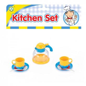 Խոհանոցային սպասք հավաքածու, ցել-ով, թեյնիկ