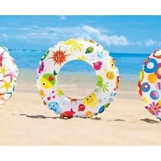 Փչովի լողի օղակ ցել-ով 61սմ. /INTEX/61cm Lively Print Swim Rings, Ages 6-10, 3 Styles