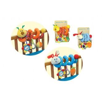 Փափուկ խաղալիք օրորոցի Baby spiral fun զսպանակ որդ