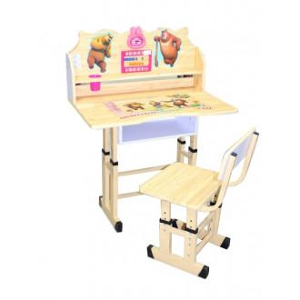 Փայտե գրասեղան իր աթոռակով