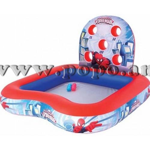 Փչովի լողավազան ջրաշխարհ Spider-man, Bestway 1.55mx1.55mx99cm Interactive Play Center