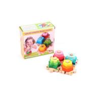 Փայտե խաղալիք, 4հ-ոց փոքր բուրգ աշտարակ կենդանակերպ պազլ