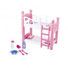 Խաղ մահճակալ տիկնիկի, մեծ տուփով /Double decker None baby bed set None