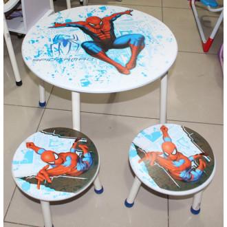 Մանկական սեղան + երկու աթոռակ