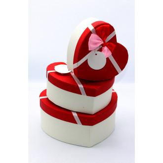 Նվերի տուփ 3հ-ոց սիրտ