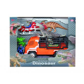 Խաղային հավաքածու ուղղաթիռով, դինոզավրերով և բեռնատար մեքնայով
