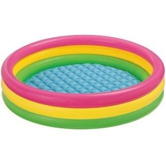 Փչովի լողավազան /INTEX/Sunset Glow Pool, 3-ring, W/ Infl. Floor