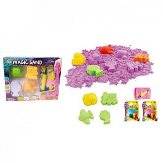 Խաղ կինետիկ ավազի հավաքածու 1000գր. խաղալիքներով