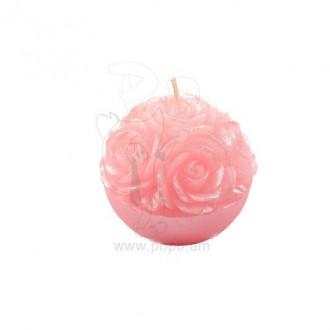 Մոմ կլոր վարդերով