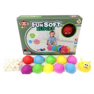 Խաղ ռետինե զվարճալի փափուկ գնդակ, լեգո 27կտոր