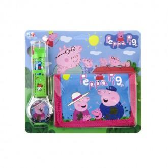 էլեկտրական ժամացույց + դրամապանակ մանկական, Peppa