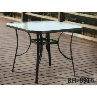 Սեղան ապակյա մակերեսով մետաղյա հիմքով