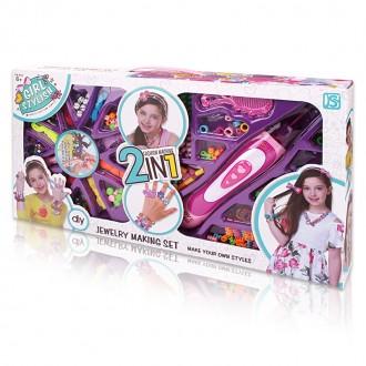 Խաղ սարքավորում մազերի հյոսքի ,հավաքածույով մեծ 2in1