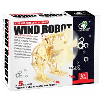 Կառուցողական խաղ գլուխկոտրուկ, քամու պտտակով ռոբոտ