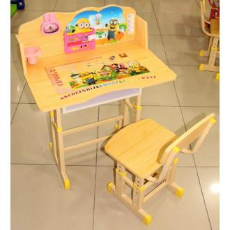 Փայտե մանկական գրասեղան աթոռով