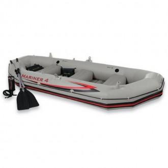 Փչովի նավակ թիակներով և պոմպով