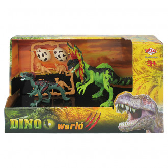 Դինոզավրի հավաքածու բաց տուփով