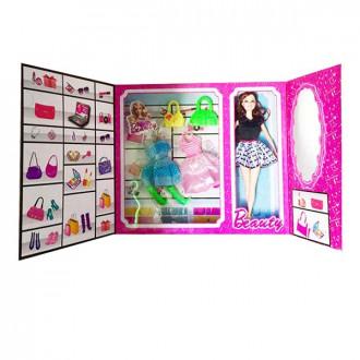 Տիկնիկ տուփով բացվող Beauty իր հագուստների հավաքածույով