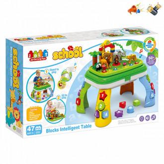 Խաղ սեղանիկով էլ. մարտկոցով + լեգո 47կտոր մանկական