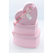 Նվերի տուփ 3հ-ոց, սիրտ /3PCS GIFT BOX/ T8022-1