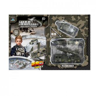 Խաղ ավտոտնակ ռազմական մեքենաների հավաքածույով