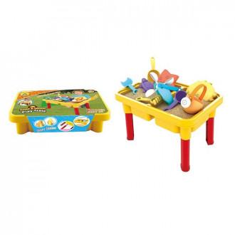 Խաղ սեղանիկ ավազե մանկական իր հավաքածույով