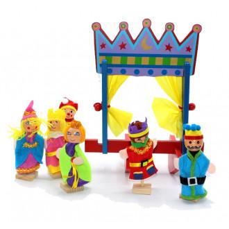 Թատրոնի բեմով փոքր տիկնիկների հավաքածույով FQ-017