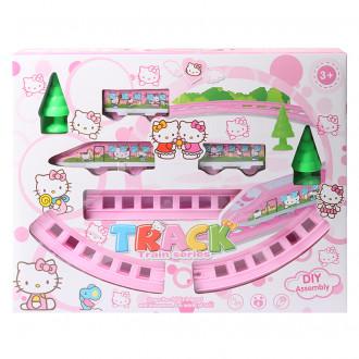 Գնացք էլ․մարտկոցով ռելսով Hello Kitty