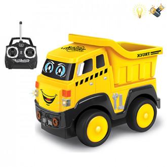 Մեքենա բեռնատար հեռակառավարմամբ, մուլտիկացված փոքր, մարտկոցով