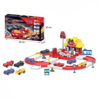 Խաղ ավտոտնակ CARS մետաղե մեքենաների հավաքածույով