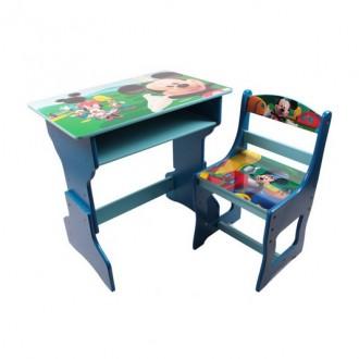Գրասեղան + աթոռ փայտե միջին Disney