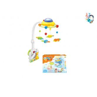 Օրորոցային երաժշտական խաղալիք 2in1, վահանակով /Remote Control musical mobile w/music,projector/
