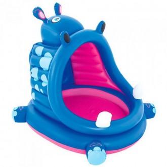 Փչովի լողավազան գետաձի Bestway 1.12m x 99cm x97cm Covered Hippo Baby Pool