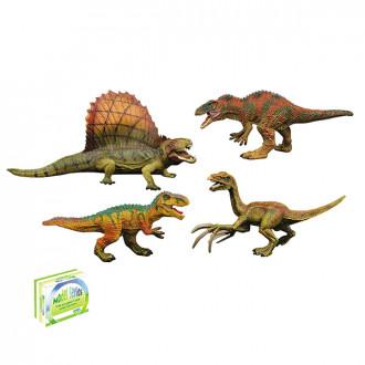 Կենդանի դինոզավր ռեզինե 12հ-ոց բլ-ով 4ձև