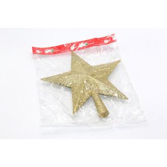 Ամանորի զարդ աստղ 1հ-ոց 23սմ. ոսկեգույն