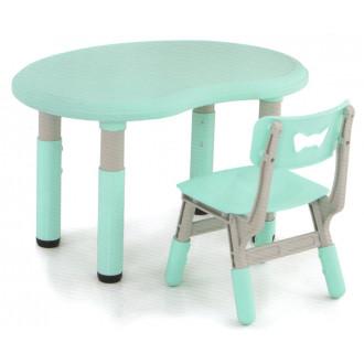 Մանկական սեղան + 1աթոռ պլ. կիսակոր