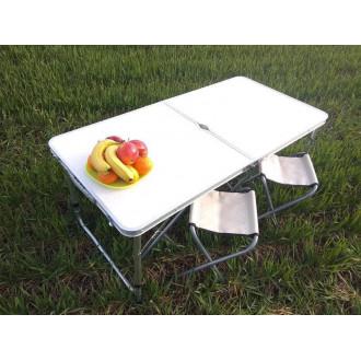 Պիկնիկի ալյումինե բացվող սեղան իր 4 աթոռներով