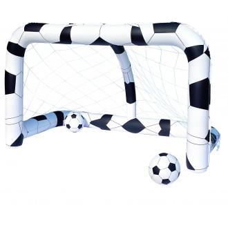 Փչովի դարպաս մեծ + գնդակ 2հ-ոց, տուփով, Bestway 2.13m x 1.22m x1.37m Soccer Net
